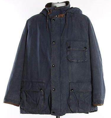 Men's POLO RALPH LAUREN Blue 100% Cotton Hunting Coat Size XL
