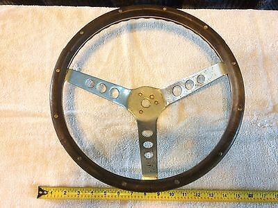 Vintage Wood and Chrome Rat Hot Rod Steering Wheel - similar to THE 500