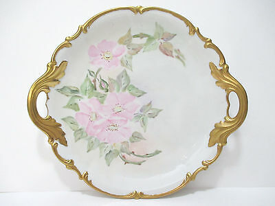 Hutschenreuther LHS Selb Sylvia Platter - Gold Trim Handles - Bavaria Germany