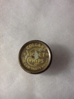 Vintage Colgan's violet chips tops tin container original