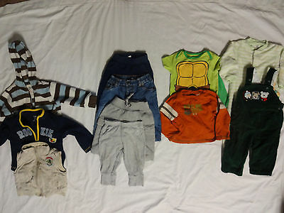 11 Boy's Baby  Fall /Winter Clothes Lot Size 6-12 Months
