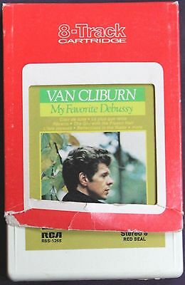 8 Track Tape VAN CLIBURN 1972 MY FAVORITE DEBUSSY on RCA RECORDS / RED SEAL