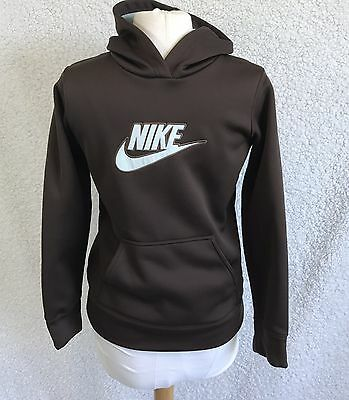Nike Kids Sz XL Hoodie Pullover Sweater Brown And Aqua Boys & Girls Shirt