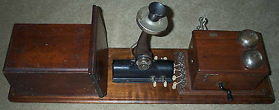 Western Electric type 21 wall phone with a #239 Transmitter Arm