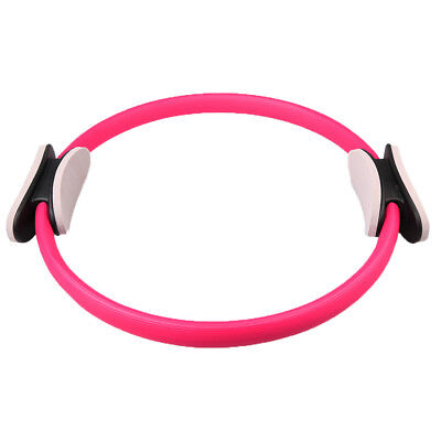 Fitness Yoga Pilates Ring Exercise Circle Waist Exercise Fitness Ring Pink