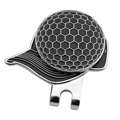 Pocket Alloy Golf Hat / Cap / Visor Clip with Magnetic Ball Marker Black