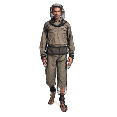 Outdoor Mosquito Bug Insect Mesh Jacket Pant Set Camping Protector Net L