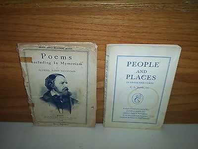 Alfred, Lord Tennyson 1899 Poems & Memoriam Book + People & Place Prose & Verse
