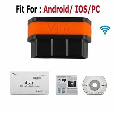 Vgate iCar2 ELM327 OBD2 II WiFi Car Diagnostic Scan Tool for Android/ IOS/PC