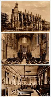 ETON COLLEGE, ENGLAND Frith's Real Postcards~Set of 7~c1920-30s Unposted NOS