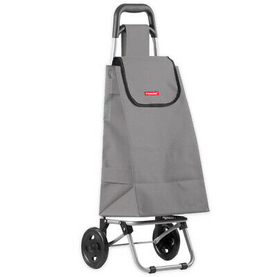 New TYPHOON Shopping Trolley GREY W/ Wheels Grocery Foldable Cart Bag