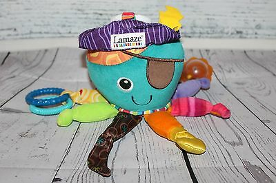 """Tomy Lamaze Pirate Baby Toy Developmental Octopus Colorful 0-24 months 10"""" Clips"""