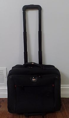 Swiss Gear Wenger Rolling Laptop Computer Bag Travel Carry On Black used