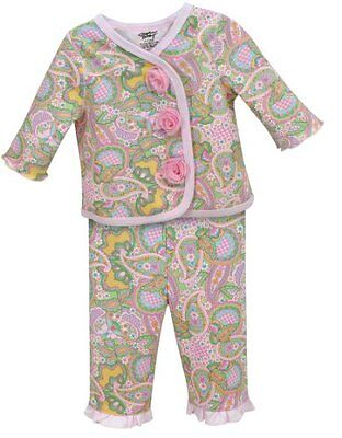 Stephan Baby Diaper Cover and Jacket Set with Pink Organza Rosettes, Pretty In P