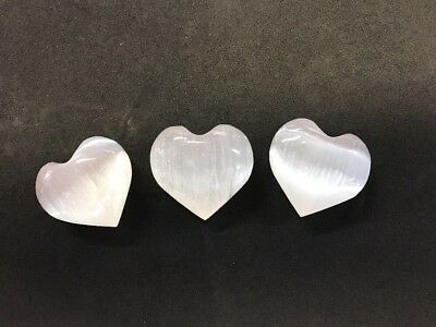 Large Selenite Puffy Heart - High Grade Selenite From Morocco