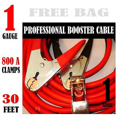 Comercial Heavy Duty 800 Amp clamps 20 FT 2 Gauge Booster Cable Jumper Cables