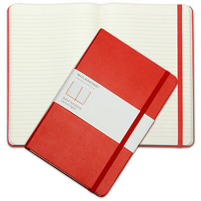 NEW Moleskine Classic Hard Cover Notebook Large Ruled Red