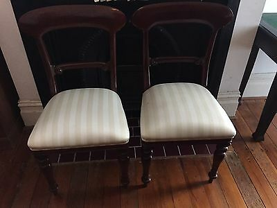 Mahogany Antique Style Vintage Dining Chairs