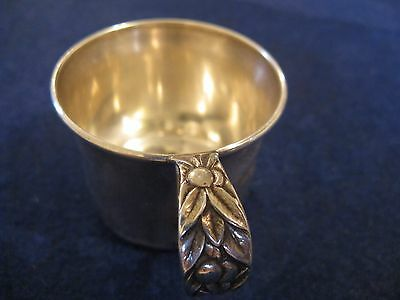 STERLING SILVER BABY CUP by MANCHESTER......FLORAL PATTERN