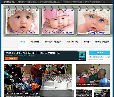 COMPLETE Baby Products Review Store Website For Sale Make Money Amazon - Google
