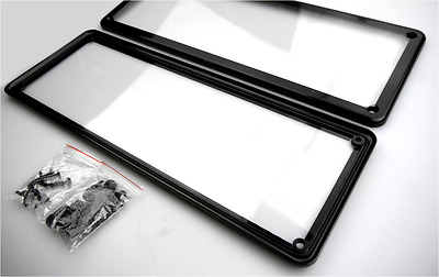 Number Plate Covers Standard Size 372mm x 134mm Fits Most Regular Plates KPN002