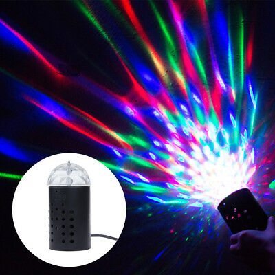 2x Disco LED Stage Laser Lighting RGB Crystal Magic Ball Effect Light DJ Party