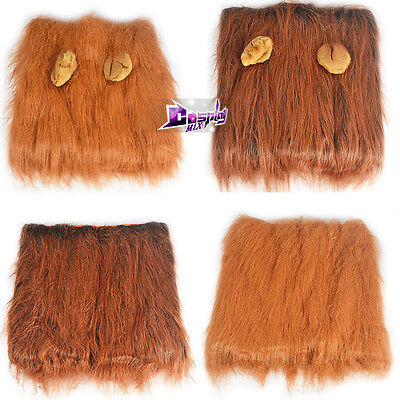 Pet Costume Clothing for Large Dog Lion Mane Wig Hair Clothes Dress up With Ears