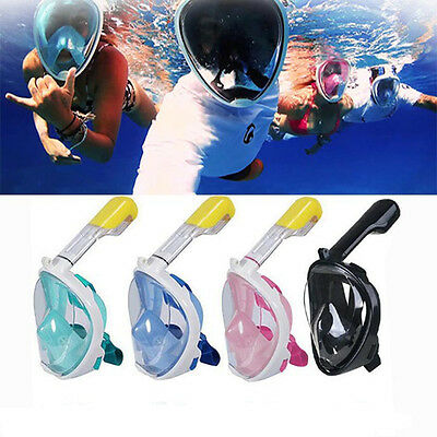 Snorkel Mask Full Face, 2017 New 180° Curve Panoramic Diving Mask Larger View