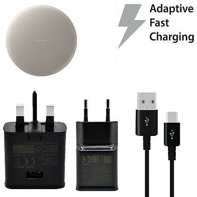 Genuine Fast Wall Charger Type-C Cable Wireless Charging Pad For Samsung S8 Plus