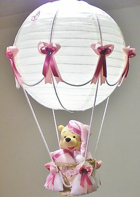 Hot Air Balloon Lamp-light Shade for Baby Nursery with Winnie the Pooh