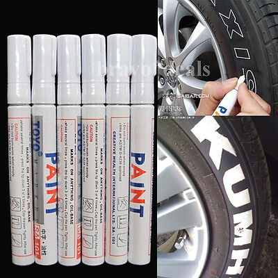 6x Universal Waterproof Paint Marker Pens Permanent Motorcycle Car Tyre Tread AU