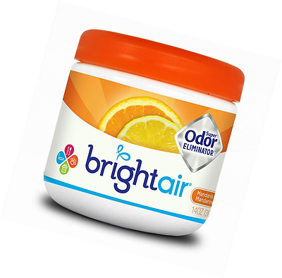 Bright Air Solid Air Freshener and Odor Eliminator, Mandarin Orange and Fresh Le