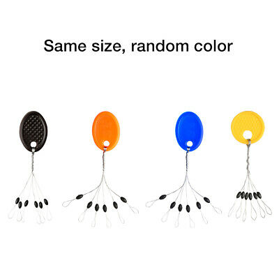 10pcs 6 in 1 Rubber Oval Stopper Fishing Bobber Float Connector Fishing Tackle