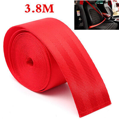 3.6m Red Universal Racing Front 3 Point Safety Retractable Van Car Seat Lap Belt