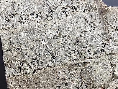 ANTIQUE C.1910  Handmade  Honiton Lace Sleeves VC8