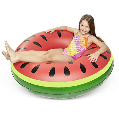 Inflatable Float Raft Beach Pool Toys Watermelon Swimming Ring Kids Adults 65cm