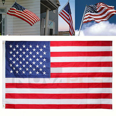 American Flag 3FTx5FT USA US U.S. Sewn Stripes Stars Brass Grommets