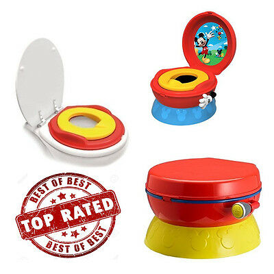 Baby Potty Celebration System Disney Chair Seat Mickey Mouse Toilet 3-in-1
