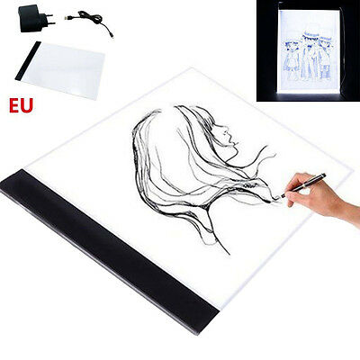 A4 LED Tracing Zeichnung  Board Pad Art Tattoo Tisch Schablone Display Licht Box