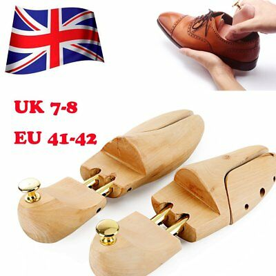 2 x Mens  Wood Boot Shoe Tree Stretcher Wooden Shaper Bunion Width Size 7-8 NW