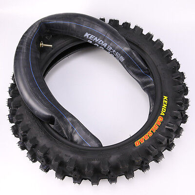 "80 / 100 - 12"" Back Rear Knobby Tyre Tire + Tube PIT PRO Trail Dirt Bike 12Inch"