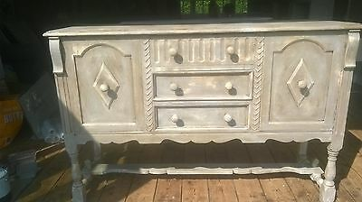 French grey, rustic, distressed sideboard, dresser/ cupboard