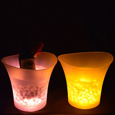 7 Colours LED Changing Ice Bucket Champagne Wine Drinks Cooler Retro Party Xmas
