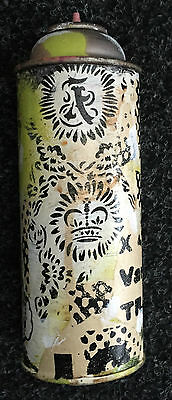 Lady Aiko  Original Hand Painted Spraycan 2014 Bunny Motif Street Art Faile
