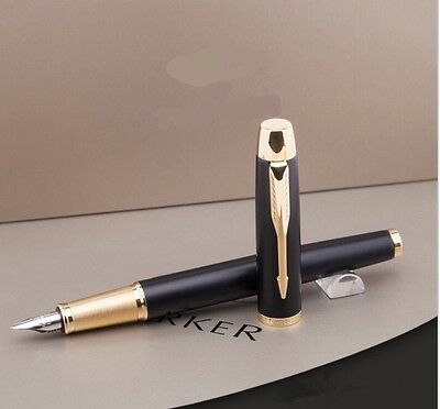Parker Im Matte Black Fountain Pen With Gold Trim-No Box