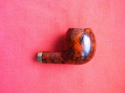 A VINTAGE TOBACCO SMOKING PIPE BOWL with GOLD PLATE COLLAR, #419
