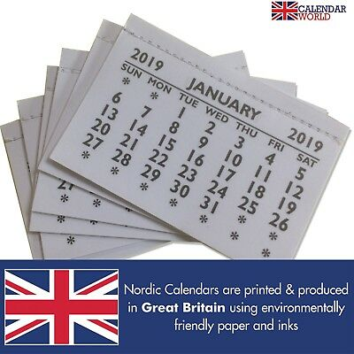 2018 Calendar Tabs Inserts Small Calendars Month to View Made In UK Multi Pack