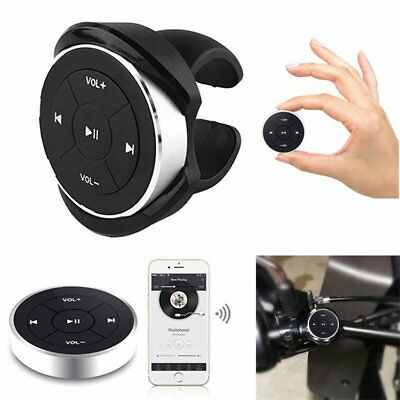 Car Bike Bluetooth Wireless Media Audio Steering Wheel Remote Control Button