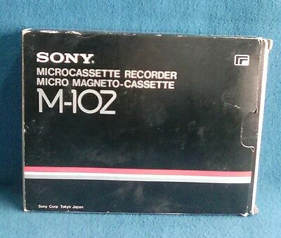 Registratore Microcassette Mc Recorder Sony Model M 102 Made In Japan