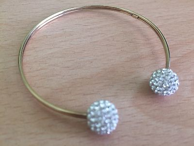 Beautiful Ladies 9ct yellow gold bracelet/bangle Fully Hallmarked 9K